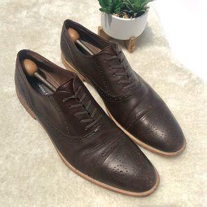 Aston Grey   Crocket Leather Oxfords Size 12